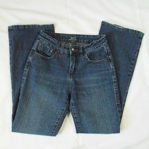 Jag Stretch Blue Jeans Straight Boot Leg 2 P